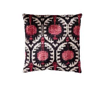Ethan Allen Silk/Velvet Ikat Pillow