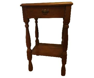 Vintage Oak Bedside Table