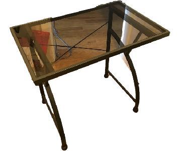Tempered Glass/Metal Desk