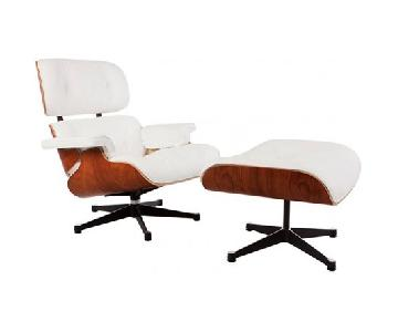 Eames Chair Replica in White & Rosewood