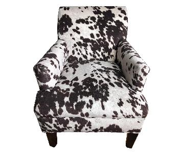 Faux Cowhide Accent Chair