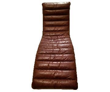 Restoration Hardware Oviedo Leather Chaise