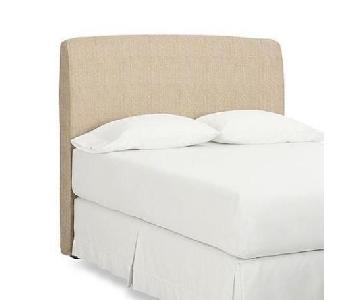 Pottery Barn Lewis Upholstered Queen Headboard
