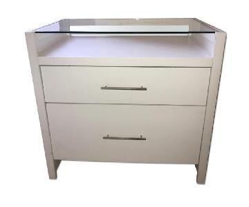 2 Drawer Dresser w/ Convertible Glass Top Desk