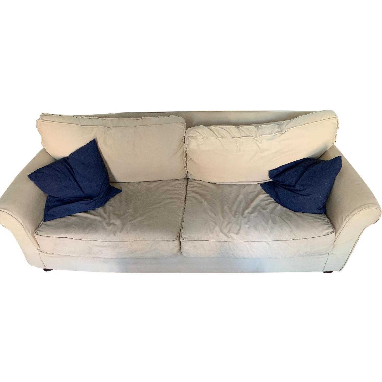 Mitchell Gold Bob Williams Beige Fabric Sofa Aptdeco