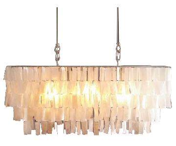 West Elm Capiz White Chandelier