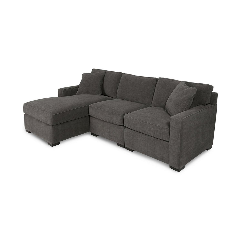 Macy's Radley 3-Piece Fabric Chaise Sectional Sofa - AptDeco
