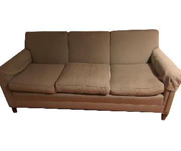 Custom Grey Wool Upholstered Sofa