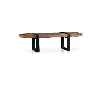 Crate & Barrel Seguro Rectangular Coffee Table