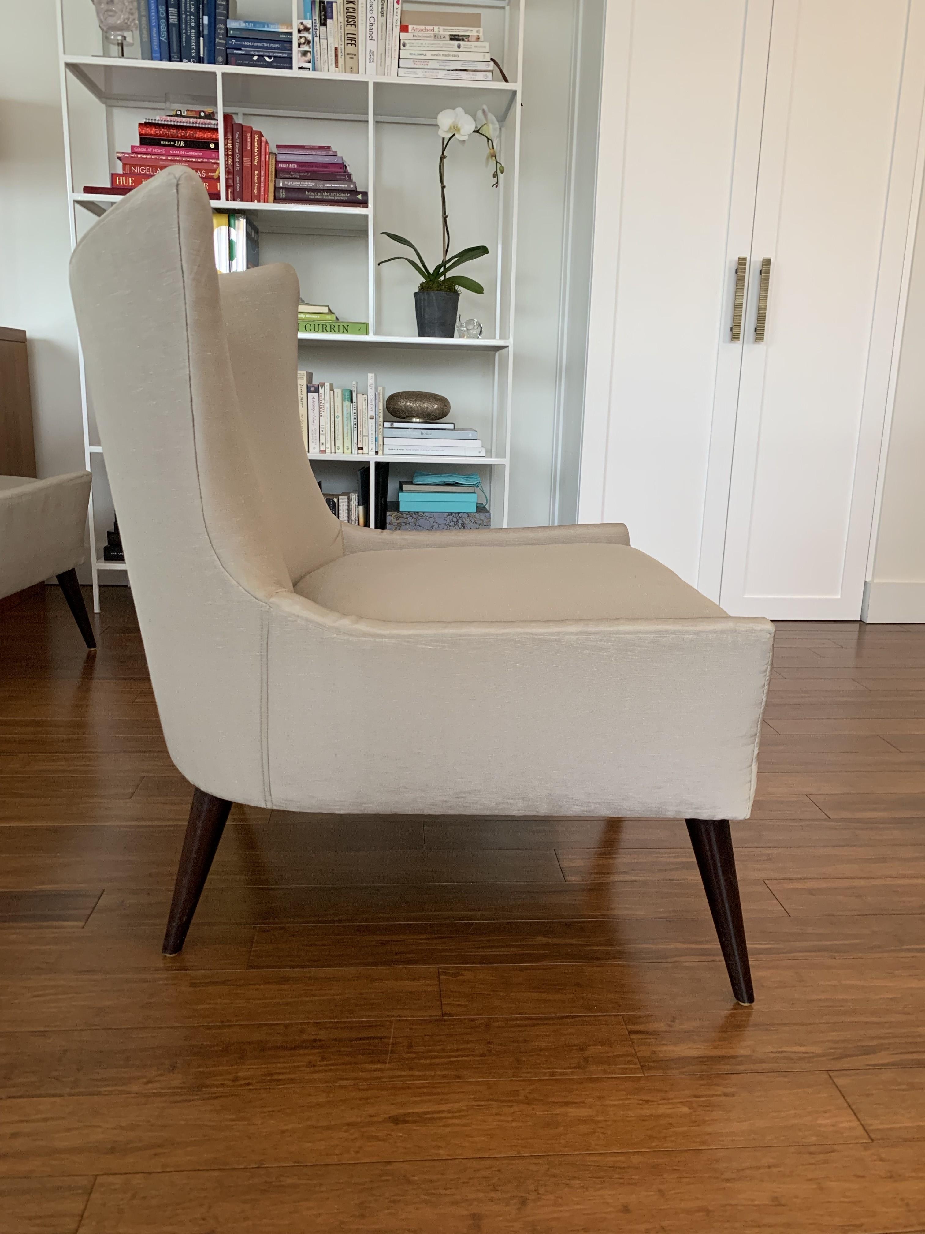 Room & Board Dove Grey Chairs