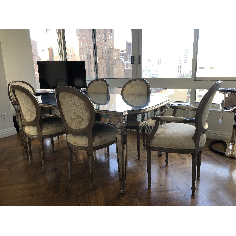 John Richard Antiqued Mirrored Dining Table Aptdeco
