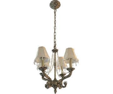 Vintage 4-Lamp Chandelier