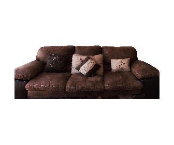 Brown Suede Sofa