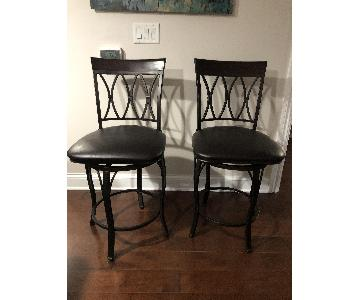Bed Bath & Beyond Brown Leather Bar Stools