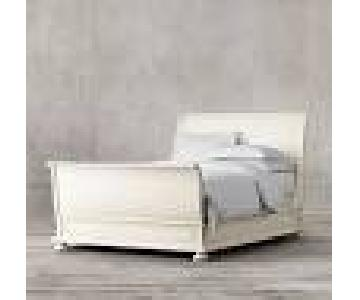 Restoration Hardware St. James Queen Sleigh Bed in Ivory