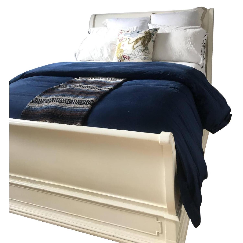 Restoration Hardware St. James Queen Sleigh Bed in Ivory