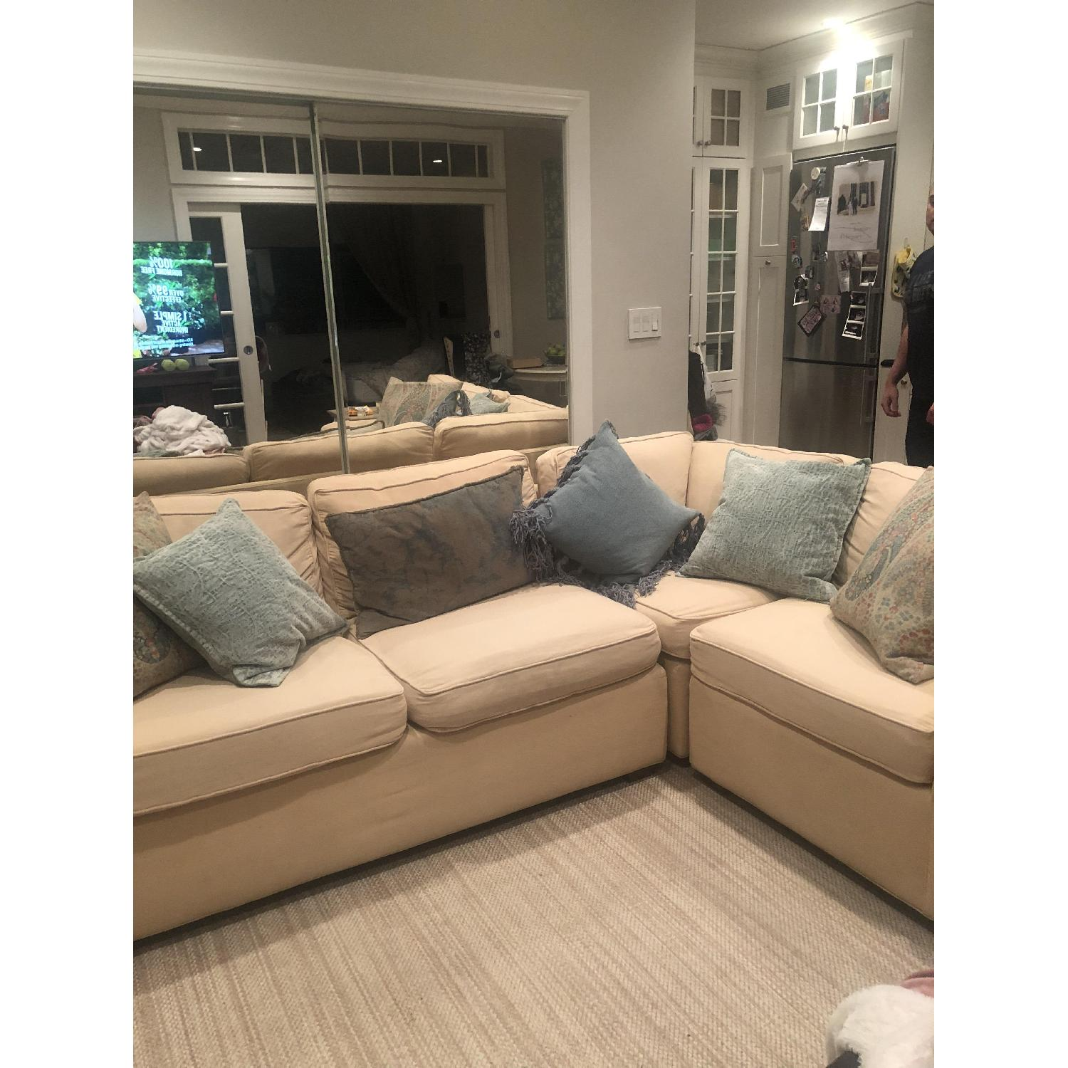Pottery Barn Beige 2-Piece Sectional Sofa