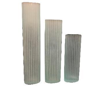 Crate & Barrel Light Blue Vases