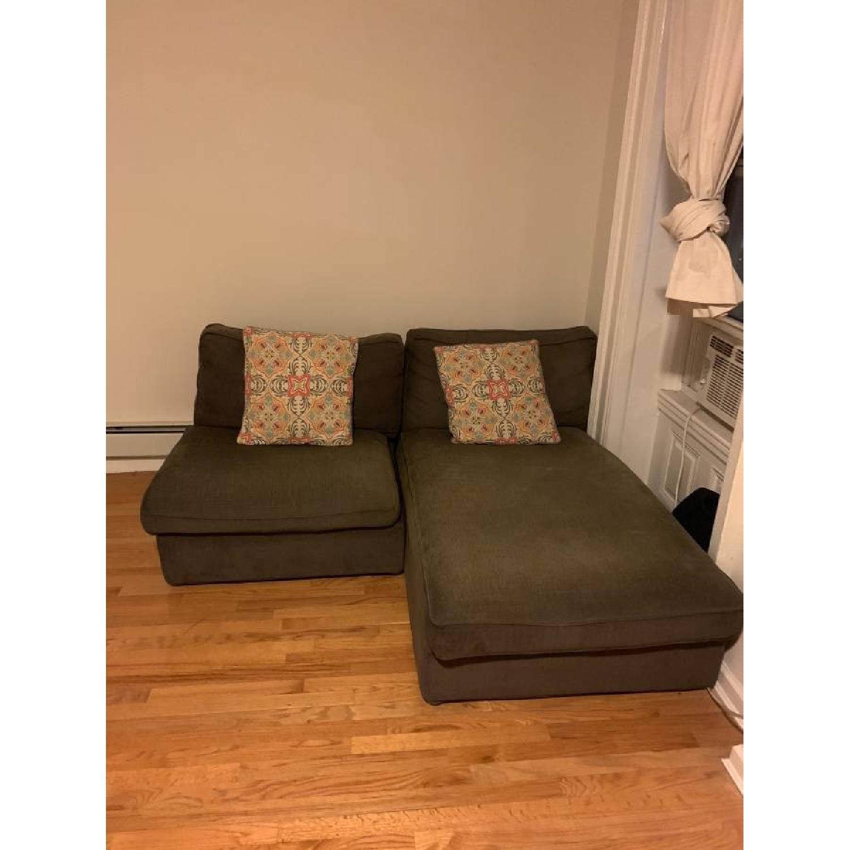 Ikea Kivik Gray 2-Piece Sectional Sofa