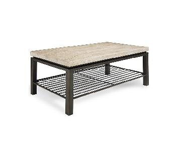 Macy's Tempo Rectangle Coffee + End Table