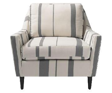 West Elm Everett Striped Chair