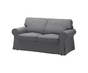 Ikea Ektorp Loveseat in Nordvalla Dark Gray
