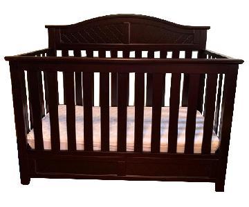 Dark Wood Crib