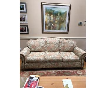 Ethan Allen Upholstered Roll Arm Sofa