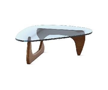Noguchi Walnut Coffee Table Replica