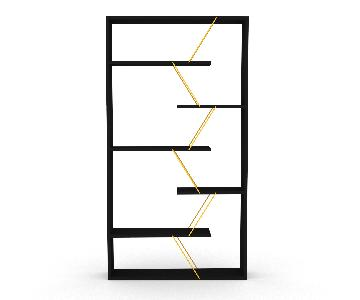 Tamada Trading Bookcase in Black & Yellow