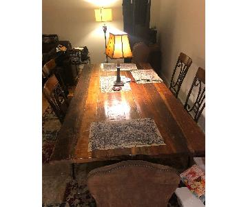 Rectangular Wood Dining Table w/ 4 Chairs