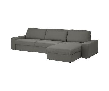 Ikea Kivik Gray 2-Piece Sectional Sofa
