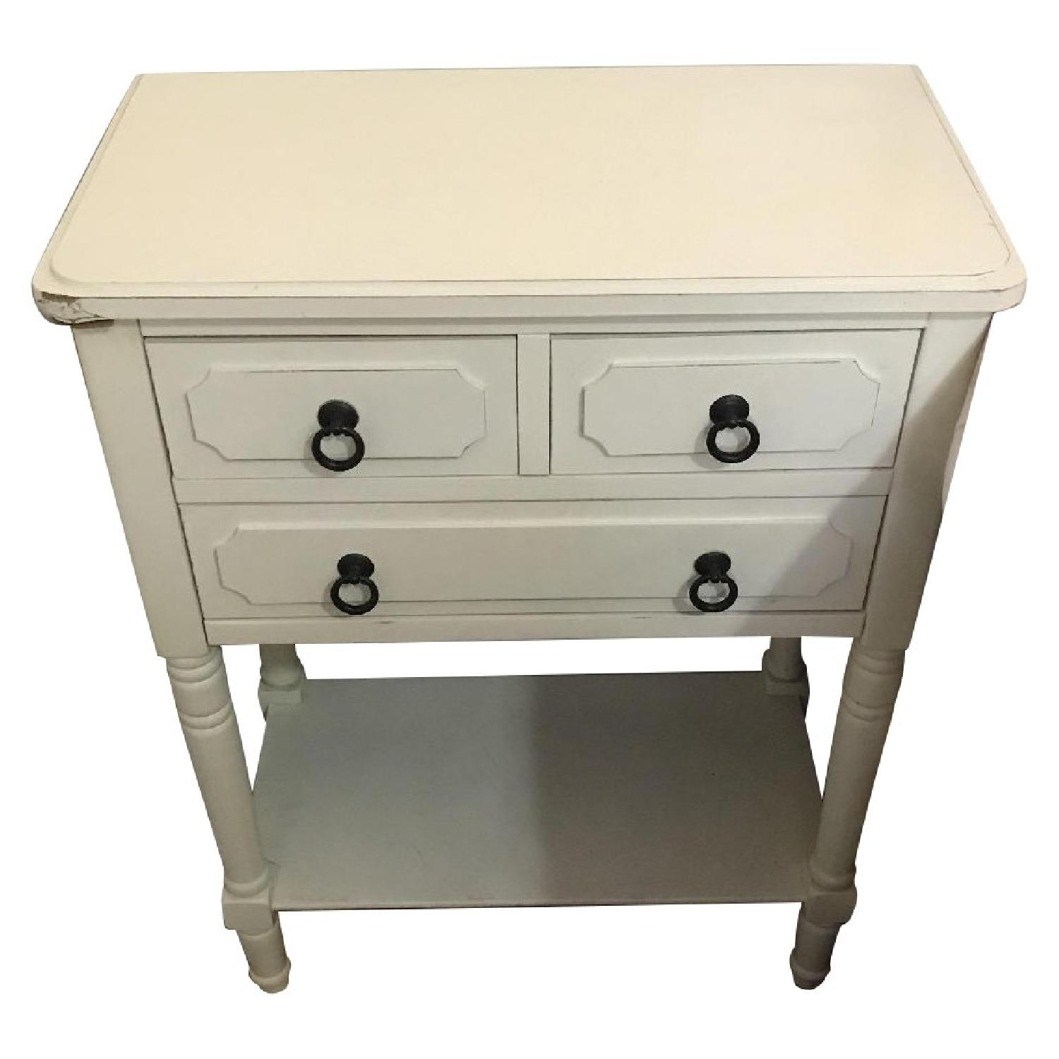 Shabby Chic Large Bedside Table