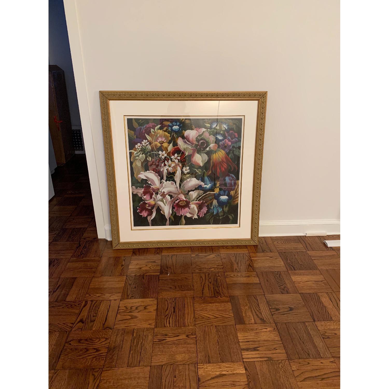 Elizabeth Horning Floral Painting w/ Gold Frame-2