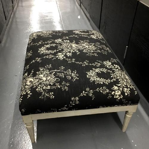 Lillian August Custom Toile Ottoman/Footrest