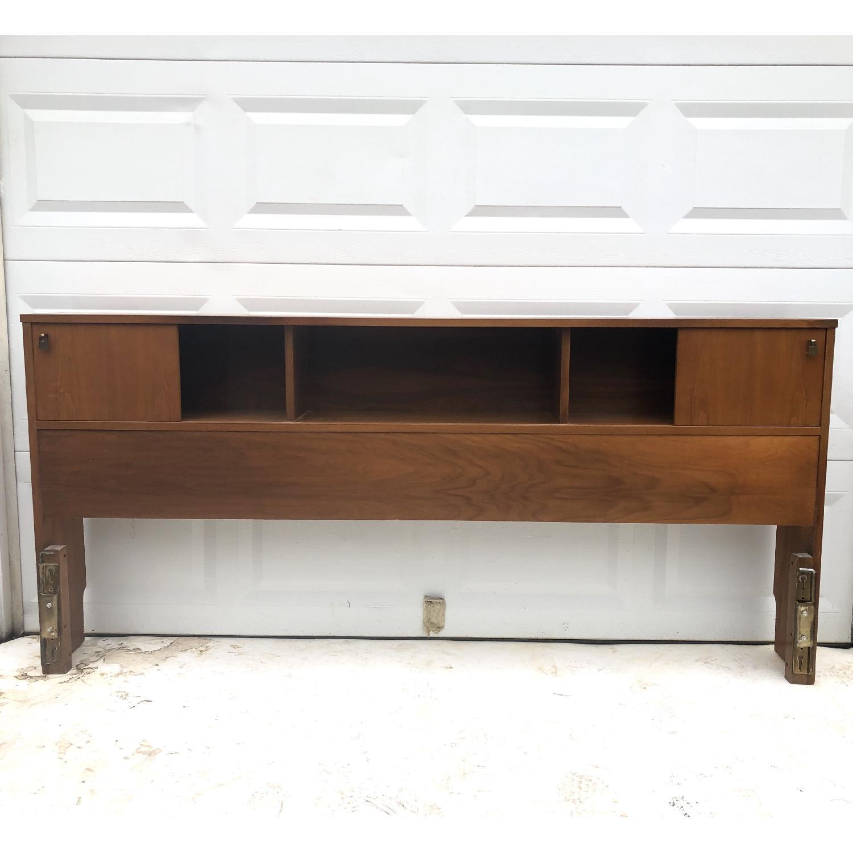 Mid-Cenfury Modern King Size Storage Headboard-2