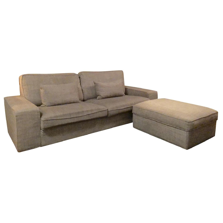 Ikea Kivik Dark Grey Sofa & Storage Ottoman
