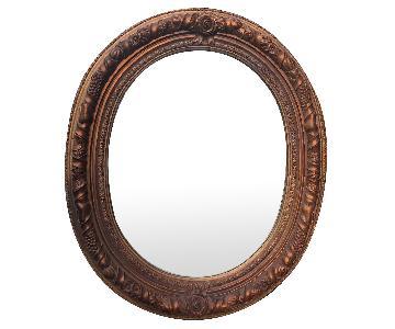 Carolina Oval Wooden Framed Beverli Mirror