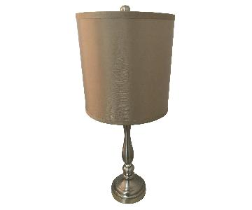 Metal Table Lamp w/ Beige Shade