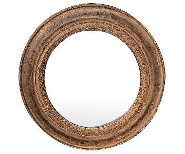 Bombay Round Wooden Framed Mirror