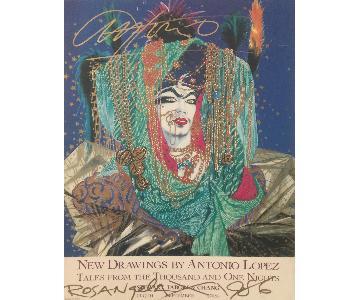 Antonio Lopez Autographed Poster