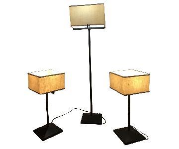 Kreiss Libra Table Lamps + 1 Floor Lamp