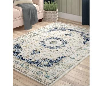 Urban Outfitters Natural & Blue Area Rug