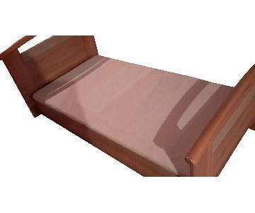 Gautier Twin Storage Bed in Walnut Finish