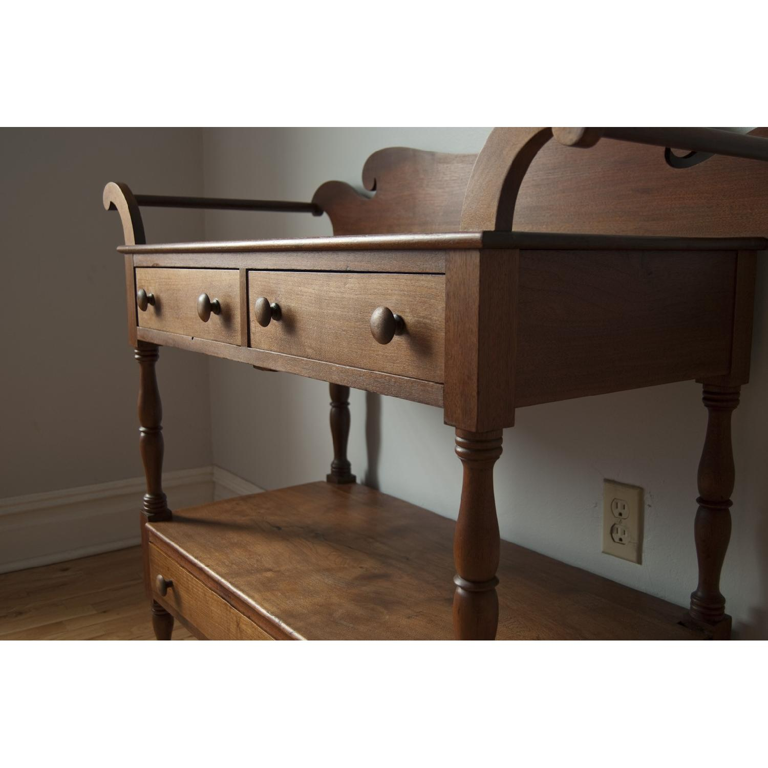 Late 1800s Solid Walnut Shaker-Style Dry Sink-3