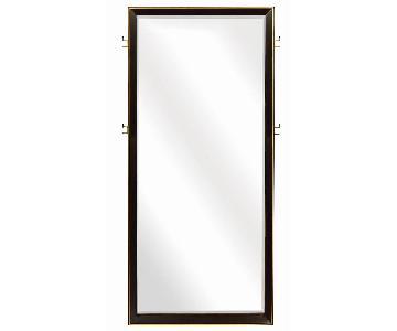 Floor Mirror in Dark Peppercorn Finish Frame w/ Gold Accent