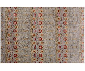 Arshs Oushak Fine Modern Lavonia Blue/Rust Wool Rug