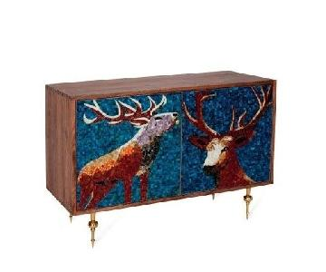 Organic Modernism Elk Mosaic Door Credenza