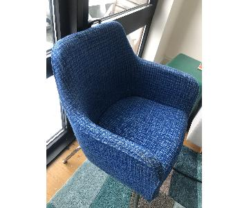 RePOP Retro Blue Pattern Fabric Chair