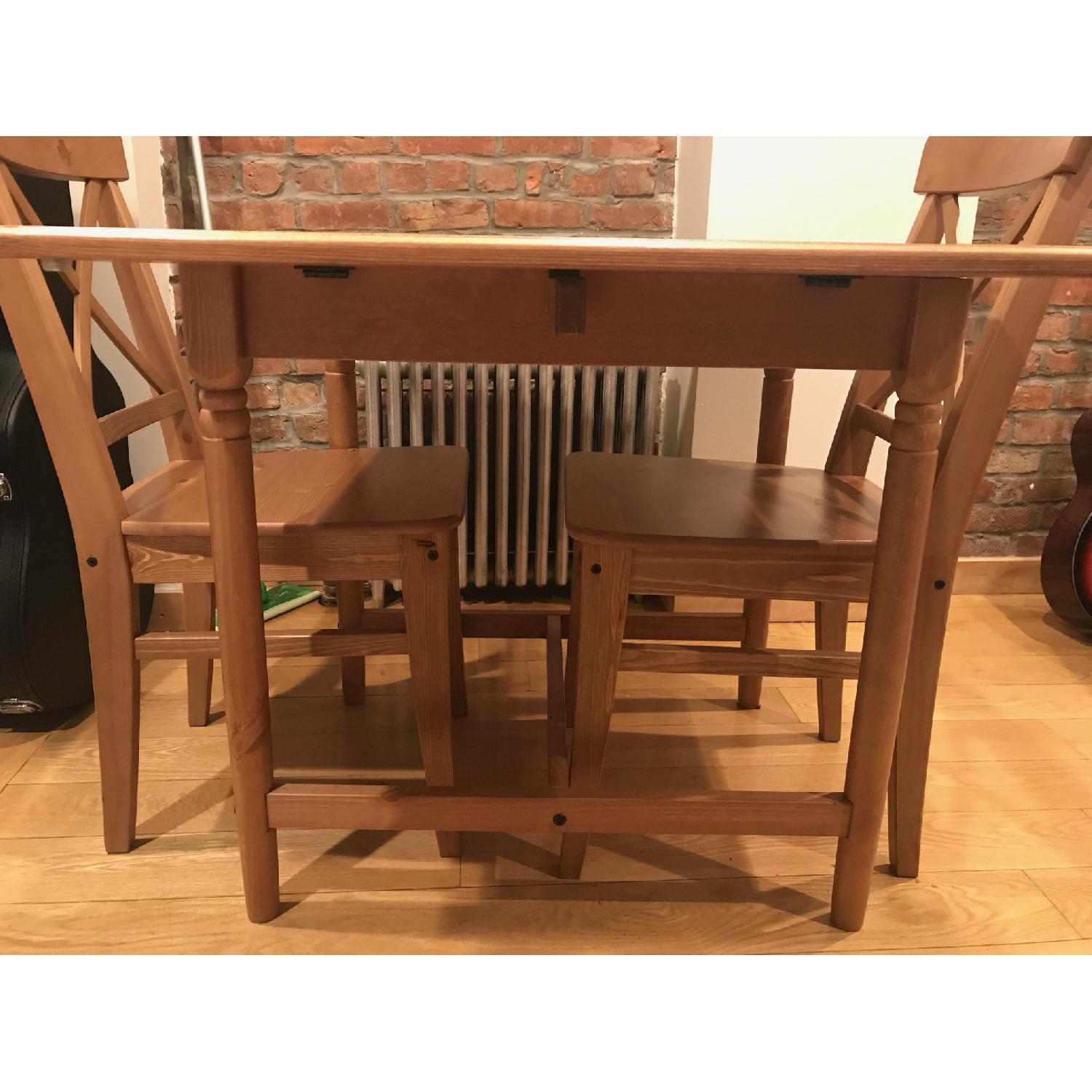 Ikea Ingatorp Drop Leaf Dining Table Aptdeco